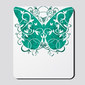 Ovarian-Cancer-Butterfly-blk Mousepad