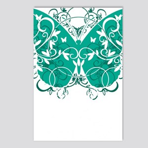 Ovarian-Cancer-Butterfly- Postcards (Package of 8)