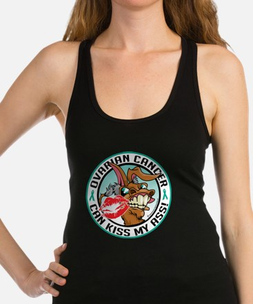 Ovarian-Cancer-Kiss-My-Ass Racerback Tank Top