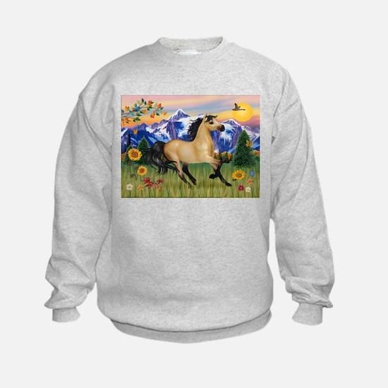 Mt. Country Buckskin Horse Sweatshirt