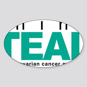 Think-TEAL-Ovarian-Cancer Sticker (Oval)