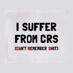 CRS Remember Shit Throw Blanket