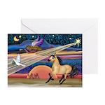 Xmas Star Buckskin Horse Greeting Cards (Package o