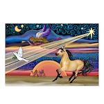 Xmas Star Buckskin Horse Postcards (Package of 8)