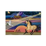 Xmas Star Buckskin Horse Rectangle Magnet