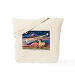 Xmas Star Buckskin Horse Tote Bag