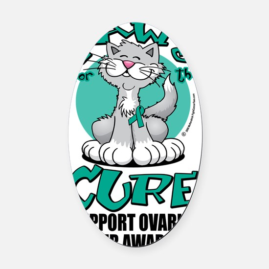 Paws-for-the-Cure-Cat-Ovarian-Canc Oval Car Magnet