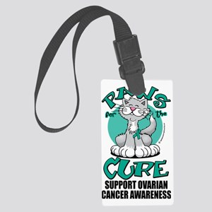 Paws-for-the-Cure-Cat-Ovarian-Ca Large Luggage Tag