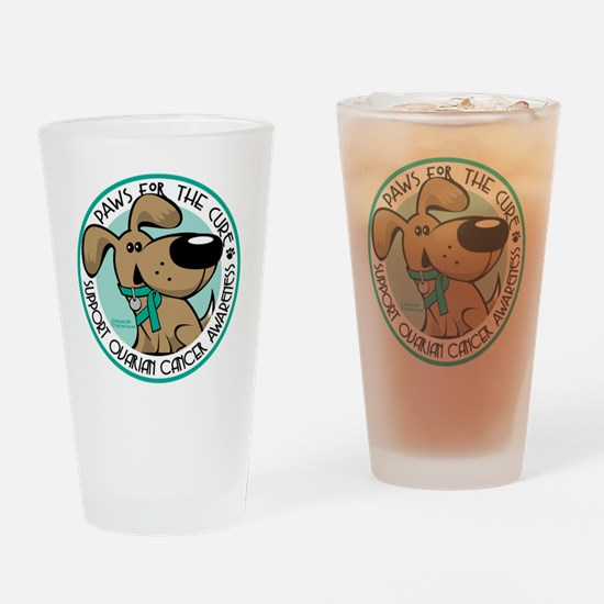 Paws-for-the-Cure-Ovarian Drinking Glass