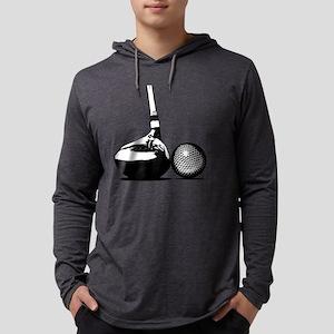 Golf Club and Golf Ball Long Sleeve T-Shirt