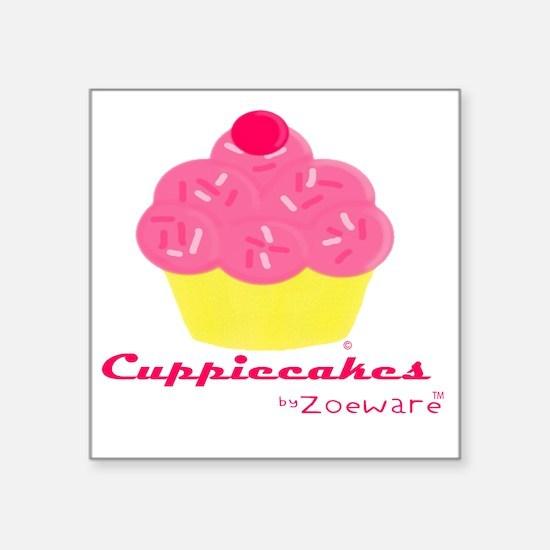 "Cuppiecakes Square Sticker 3"" x 3"""