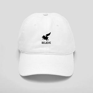 Flying Pig Believe Baseball Cap