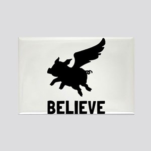 Flying Pig Believe Magnets