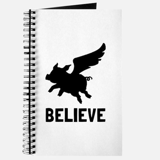 Flying Pig Believe Journal