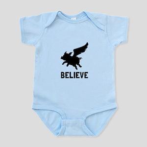 Flying Pig Believe Body Suit