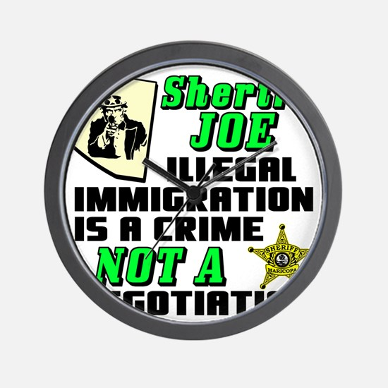 SHERIFF JOE Wall Clock