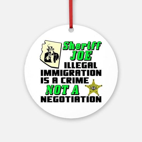 SHERIFF JOE Round Ornament