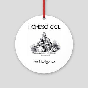 HOMESCHOOLforintelligence Round Ornament