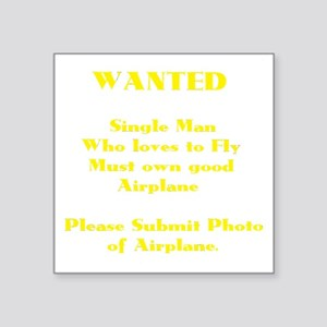 "AVIATION HUMOR (DARK) Square Sticker 3"" x 3"""