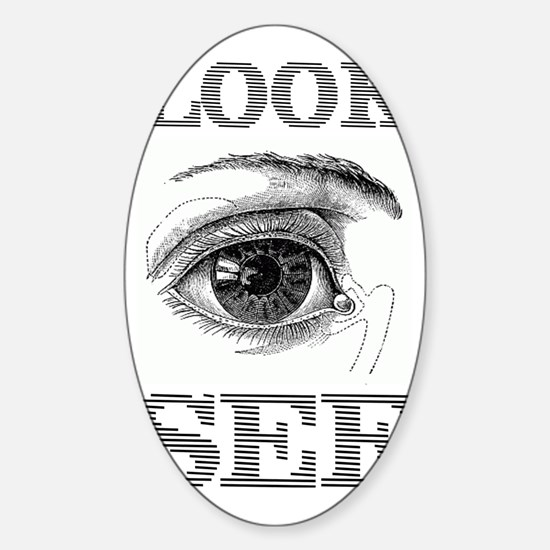 LOOK SEE Sticker (Oval)