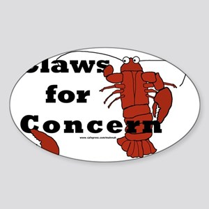 clawsforconcern2 Sticker (Oval)