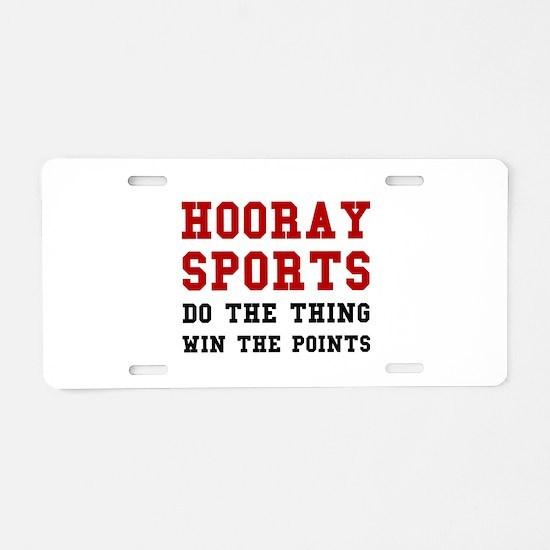 Hooray Sports Aluminum License Plate