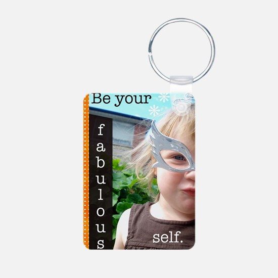 beyourself Aluminum Photo Keychain