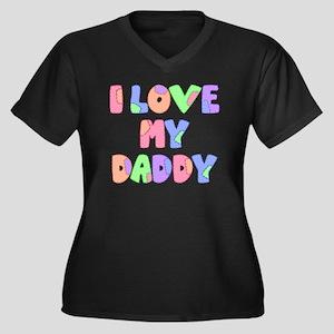 lovemydaddy1 Women's Plus Size Dark V-Neck T-Shirt