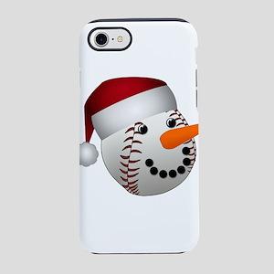 Christmas Baseball Snowman iPhone 7 Tough Case