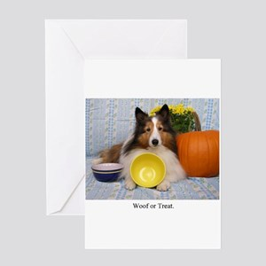 Dog halloween greeting cards cafepress woof or treat greeting cards m4hsunfo Choice Image