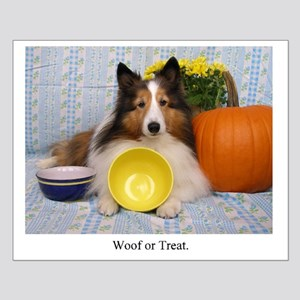 Woof or Treat Small Poster