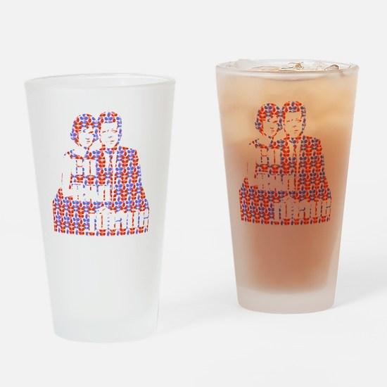 dark jack and jackie Drinking Glass