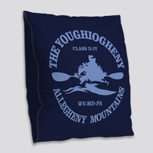 Youghiogheny River Burlap Throw Pillow