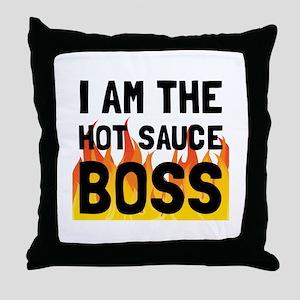 Hot Sauce Boss Throw Pillow