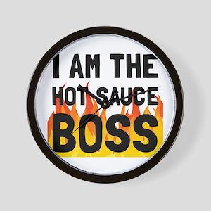 Hot Sauce Boss Wall Clock