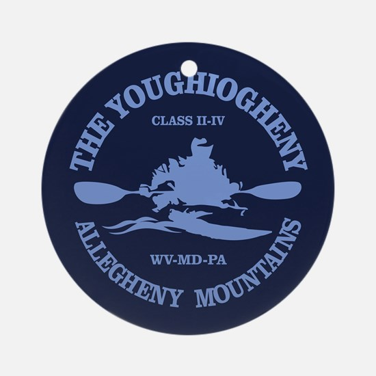 Youghiogheny River Round Ornament