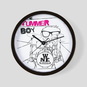 THE DRUMMER BOY T-SHIRT Wall Clock