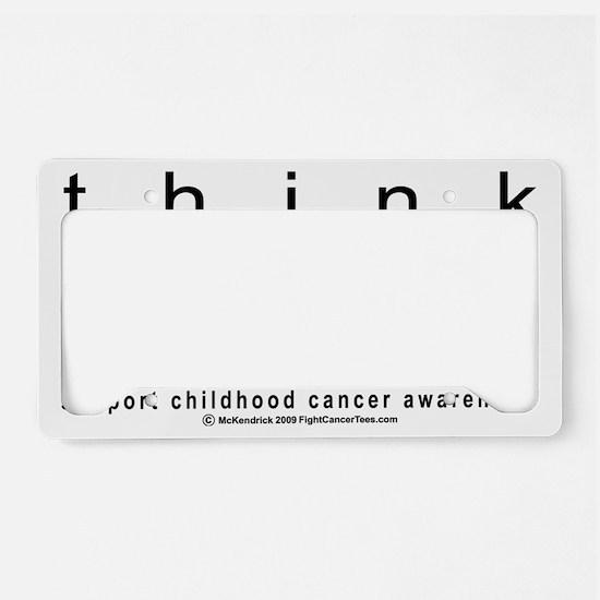 Childhood-Cancr-Think-GOLD License Plate Holder