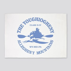 Youghiogheny River 5'x7'Area Rug