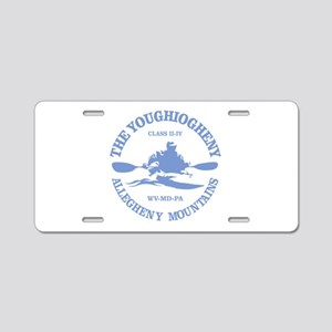 Youghiogheny River Aluminum License Plate