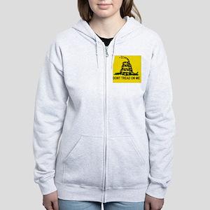 Gadsden Flag_sticker Women's Zip Hoodie