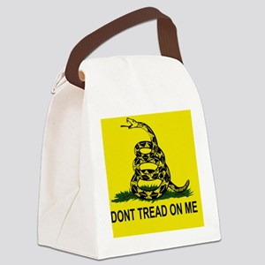 Gadsden Flag_sticker Canvas Lunch Bag