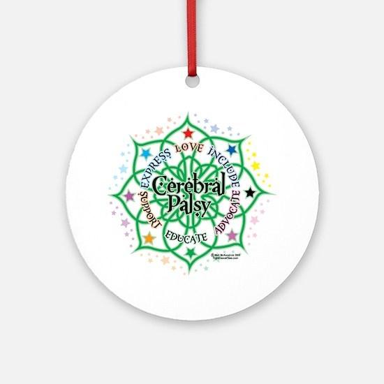 Cerebral-Palsy-Lotus Round Ornament