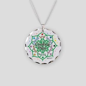 Cerebral-Palsy-Lotus Necklace Circle Charm