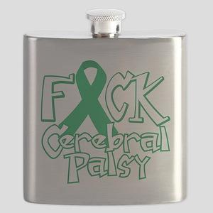 Fuck-Cerebral-Palsy-blk Flask