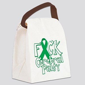 Fuck-Cerebral-Palsy-blk Canvas Lunch Bag