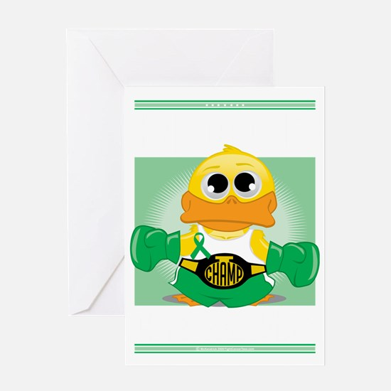 Knock-Out-Cerebral-Palsy-blk Greeting Card