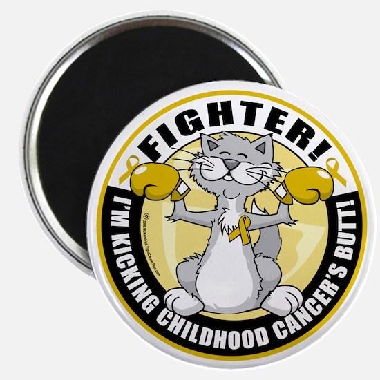 Childhood-Cancer-Cat-Fighter Magnet
