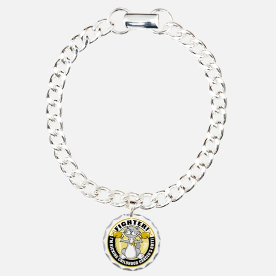 Childhood-Cancer-Cat-Fig Bracelet