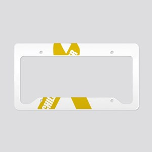 Childhood-Cancer-Hope-blk License Plate Holder